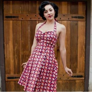 Colorful pinup swing dress - heart of haute XL